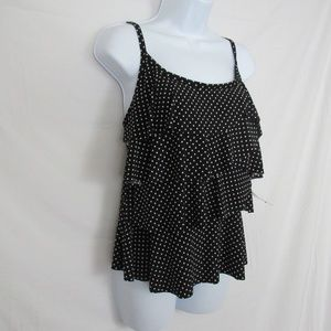 Miraclesuit Swim - Miraclesuit Tankini Top Tiered Polka Dots B/W